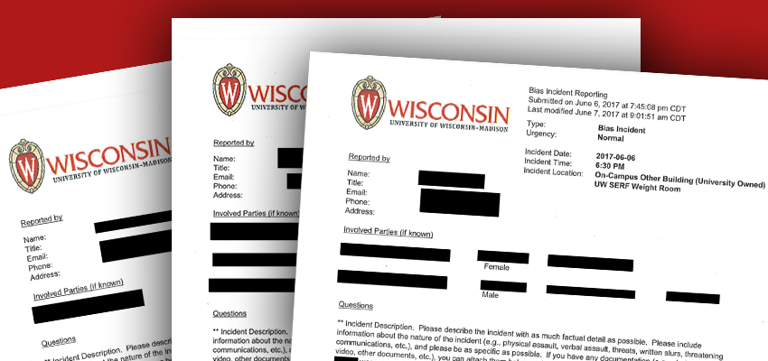 UW Madison Hate and Bias Reports